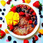 Tropical Delight Chocolate Smoothie Bowl (Vegan, GF)