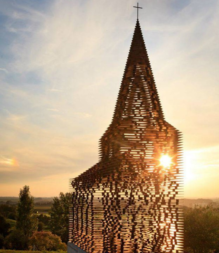 Belgium church see through