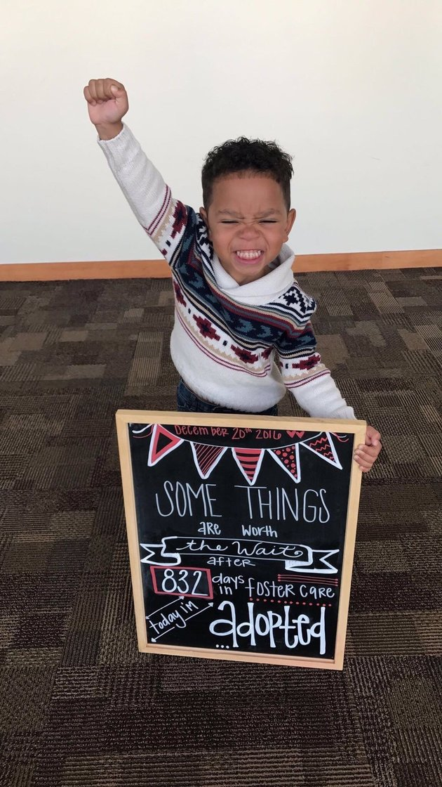kid priceless photo of adoption