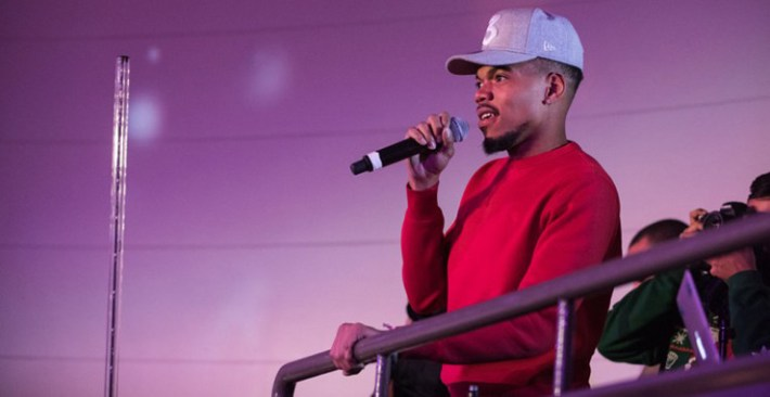 chance the rapper holiday party for homeless