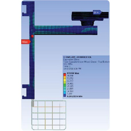 Wall Type Monitor Stands Structural Analyses