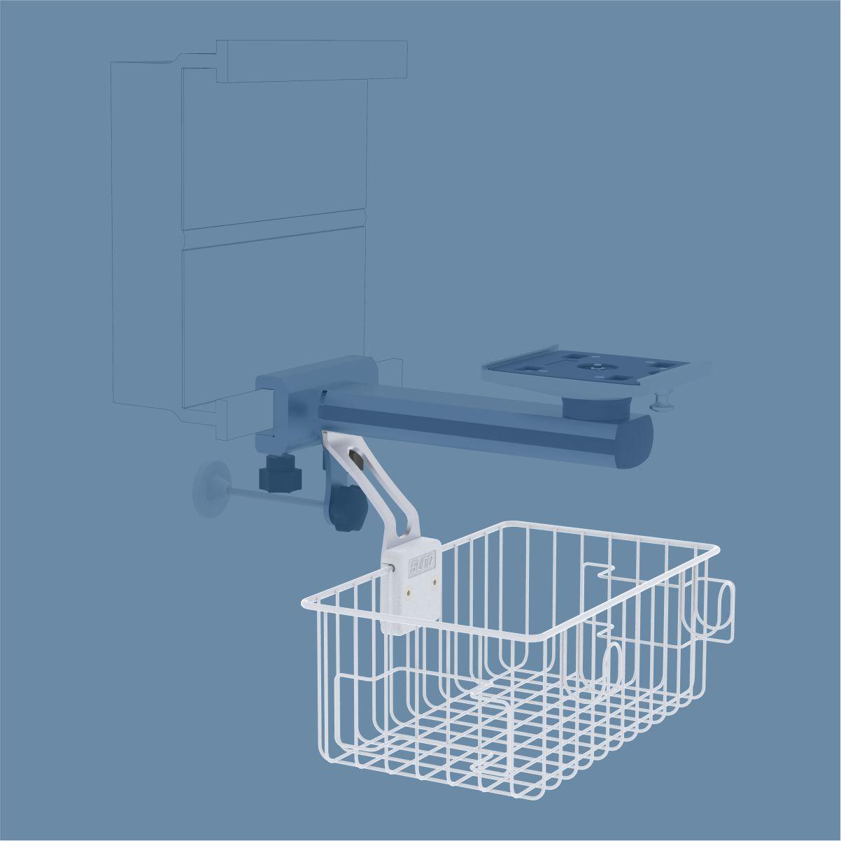 Medical Basket, Wire Basket and Cable Hook, Medical Cable Holder