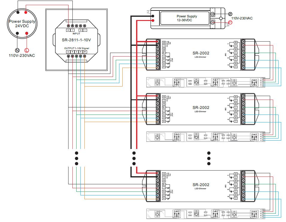 Rgbw 0 10v Led Dimmer Controller Sr 1 10v