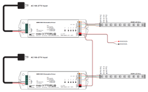 4 Channels Constant Voltage 96W KNX LED Dimming Actuator