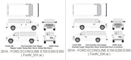 ford e250 cargo van dimensions