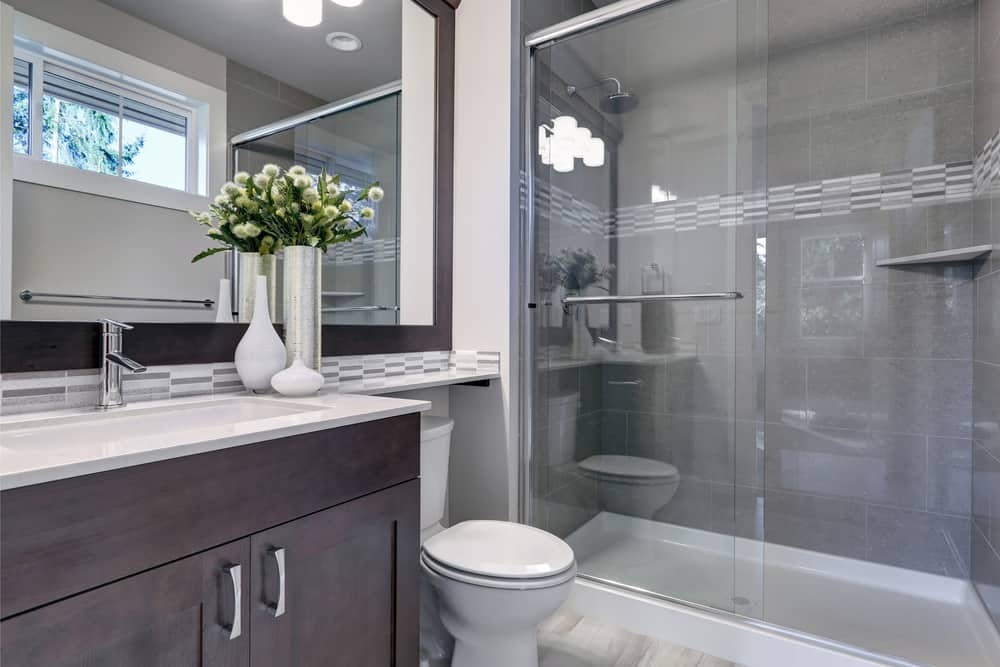 27+ Grey Shower Tile Ideas Gif