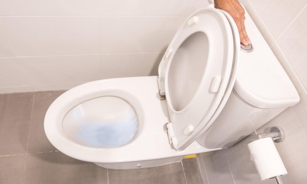 toilet bubbles when washer drains