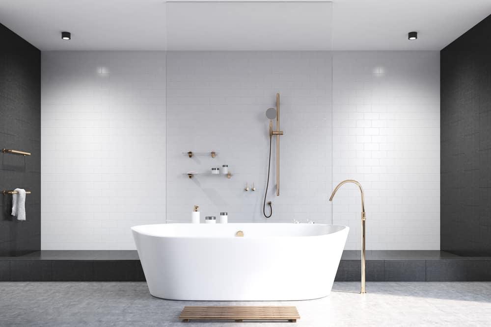 33 black and white bathroom tile ideas