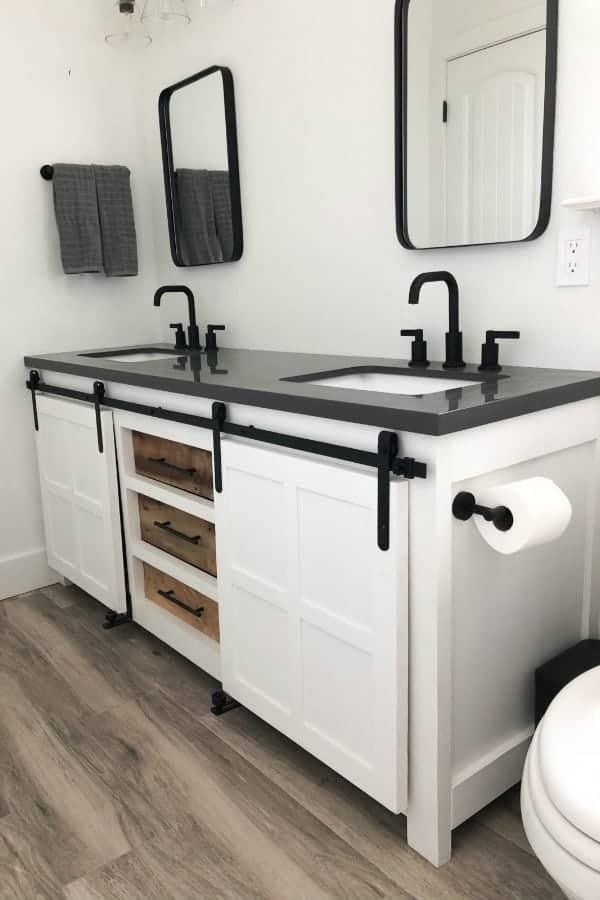 homemade bathroom vanity cabinet plans