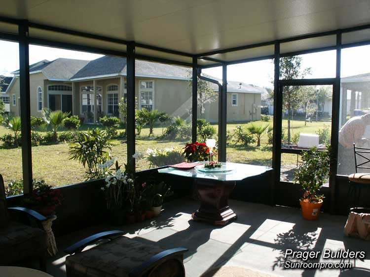 Screen Room Orlando Florida With Insulated Roof Prager