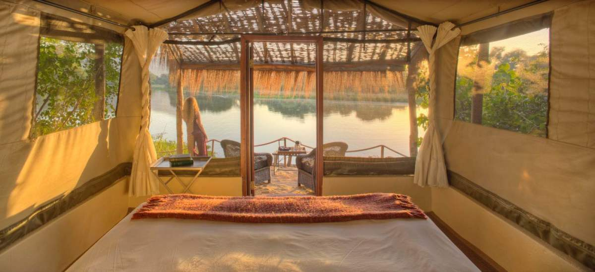 Chongwe River Camp view from the tented suites2