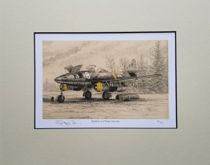 Me 262 A 1a of Walter Nowonty Pencil Drawing (Stephen Brown Aviation Artist)