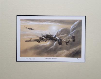 Night Hunter Me 110 G 4 Pencil Drawing (Stephen Brown Aviation Artist)
