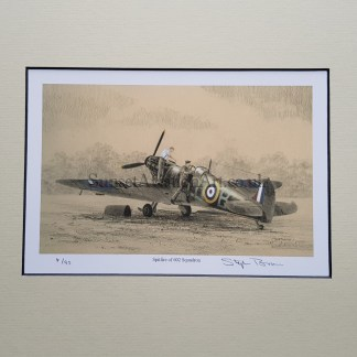 Spitfire of 602 Squadron Pencil Drawing (Stephen Brown Aviation Artist)