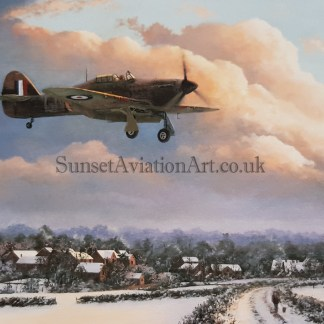 Home for Christmas Stephen Brown Aviation artist