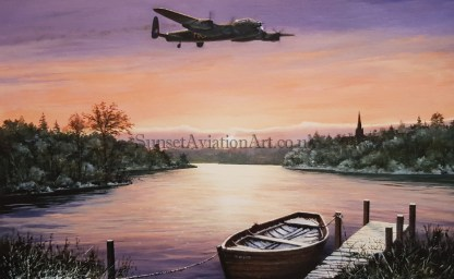 ust a few more miles to Go Stephen Brown Aviation Artist