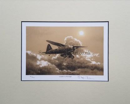 Lysander by Moonlight-Stephen Brown pencil print