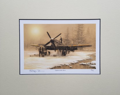 Typhoon in the snow (Stephen Brown Aviation Artist)