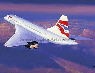 Birthday card Farwell Concorde