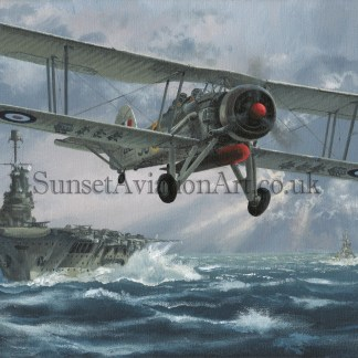 Swordfish Aviation Xmas card Flight Against The Bismarck