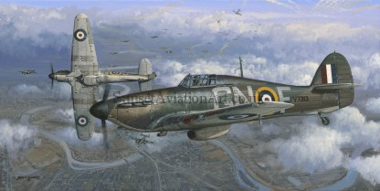 Aviation Birthday card Hawker Hurricane Height of the Battle