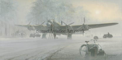 Xmas card Lancaster In the Mists of Time