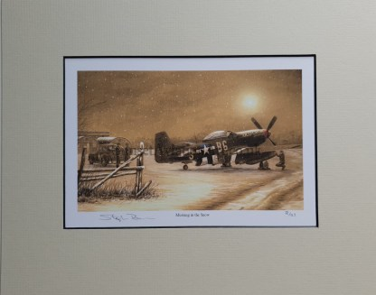 Mustang in the snow pencil print Stephen Brown