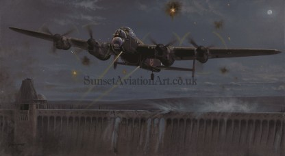 Aviation card Avro Lancaster Operation Chastise