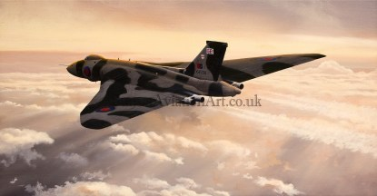 Birthday card Avro Vulcan Outward Bound