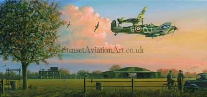 Birthday card RAF Supermarine Spitfire Return of the Few