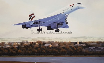 Birthday card Concorde on final approach
