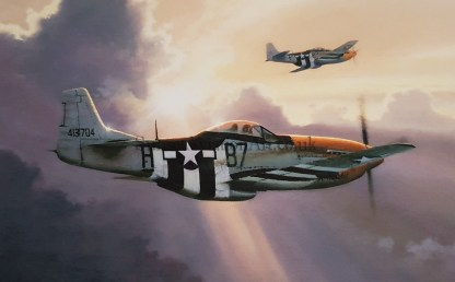 P-51 Mustang Birthday card Stallions of the sky