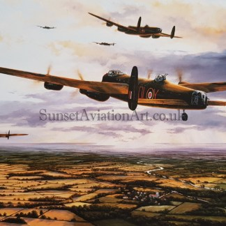 Avro Lancaster Birthday card pathfinders away