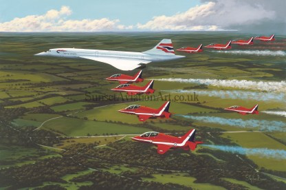 Red Arrows Birthday Card The jubilee flight