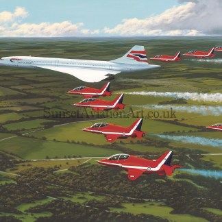Red Arrows Birthday Card The jubilee flight