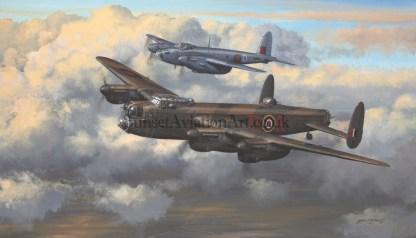 Lancaster Bomber Birthday card Twos company