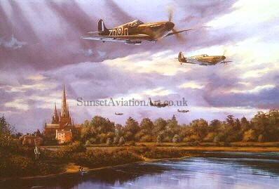 Spitfire Lichfield 1940 Birtday card