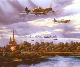 Spitfire Lichfield 1940 Birtday card