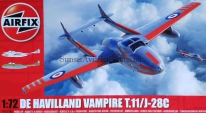 A02058A Airfix De Havilland Vampire T.11 J-28C