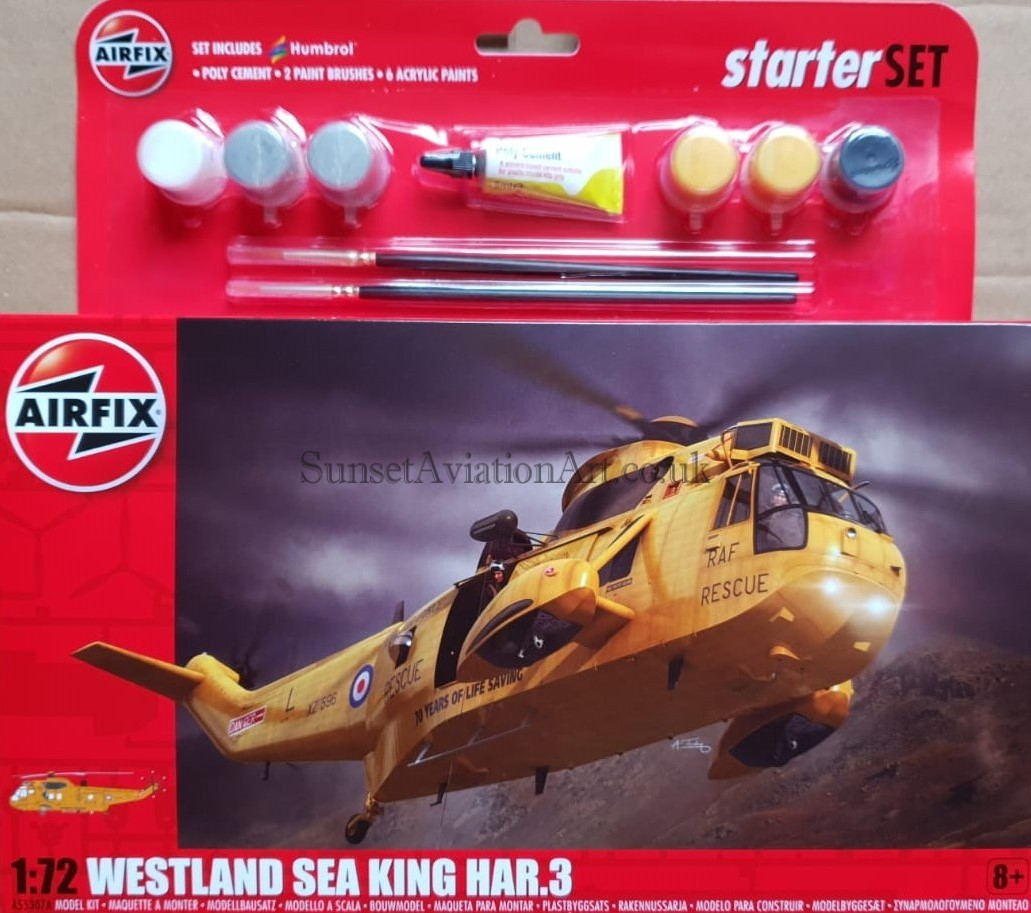 1:72 Scale Airfix A55307A Westland Sea King HAR.3 Starter Set