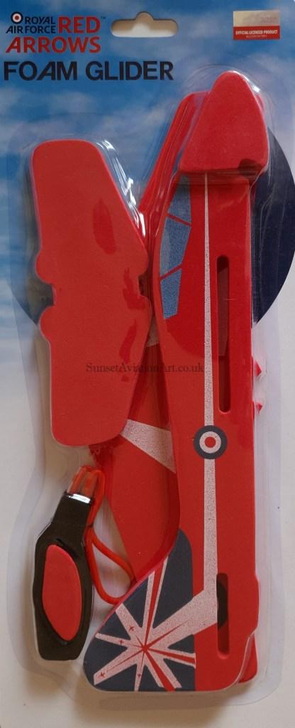 Red Arrows foam glider