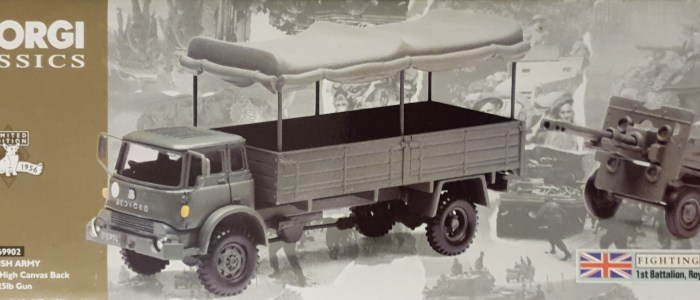 Bedford Mk High Canvas Back & 25lb Gun Corgi 69902