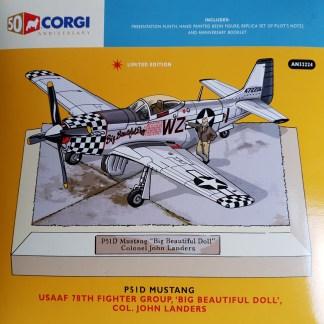 P-51D Mustang Big Beatiful Doll Corgi AN32224