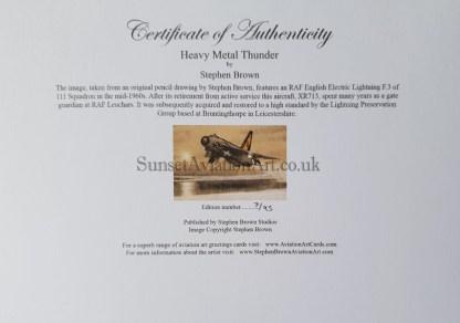 Heavy Metal Thunder cert