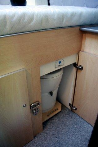 toilet onder het bed