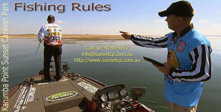 Local Rules Local Fish Rules Karumba Point Sunset Caravan Park