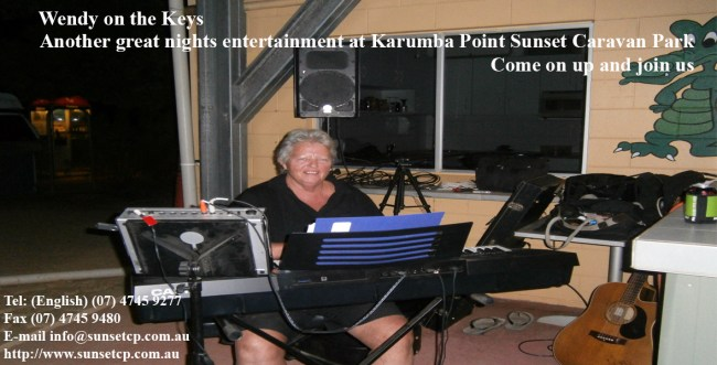 Wendy on the Keys Another Entertainment karumba point sunset caravan park accommodation cabins hotels fishing birds wild life queensland qld online direct booking book now