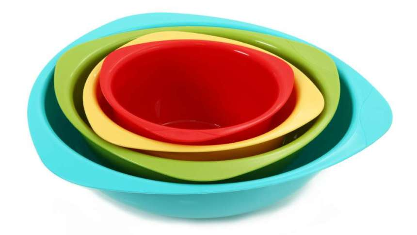 Nesting bowls are ideal for saving space