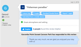 Fisherman paradise July 5 2016 Karumba Point Sunset Caravan Park