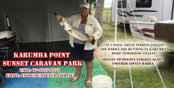 2 in 2 days. Great fishing Gillian. The Barra are running in Karumba. More tomorrow Gillian?